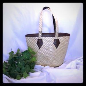 Handbags - Straw beach bag/ purse